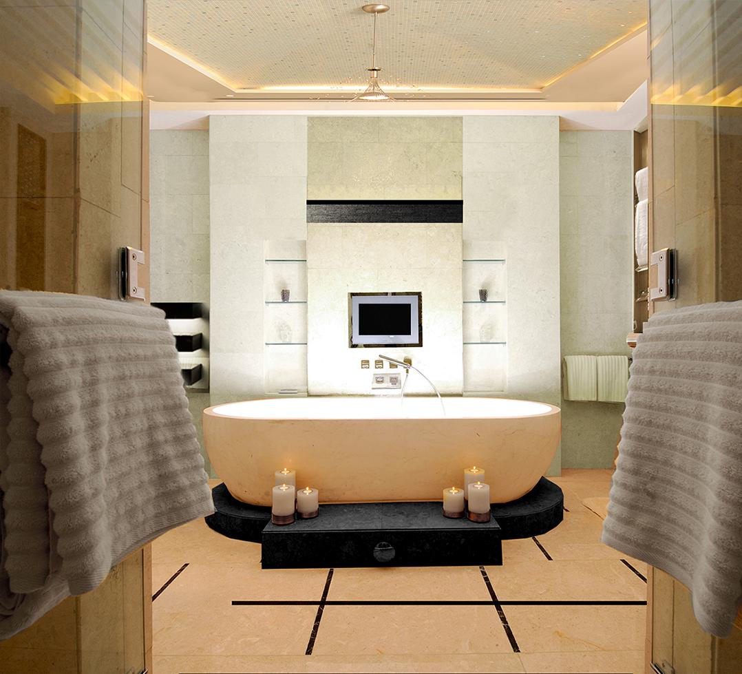 Luxury bathroom design for a show flat - bespoke interior design