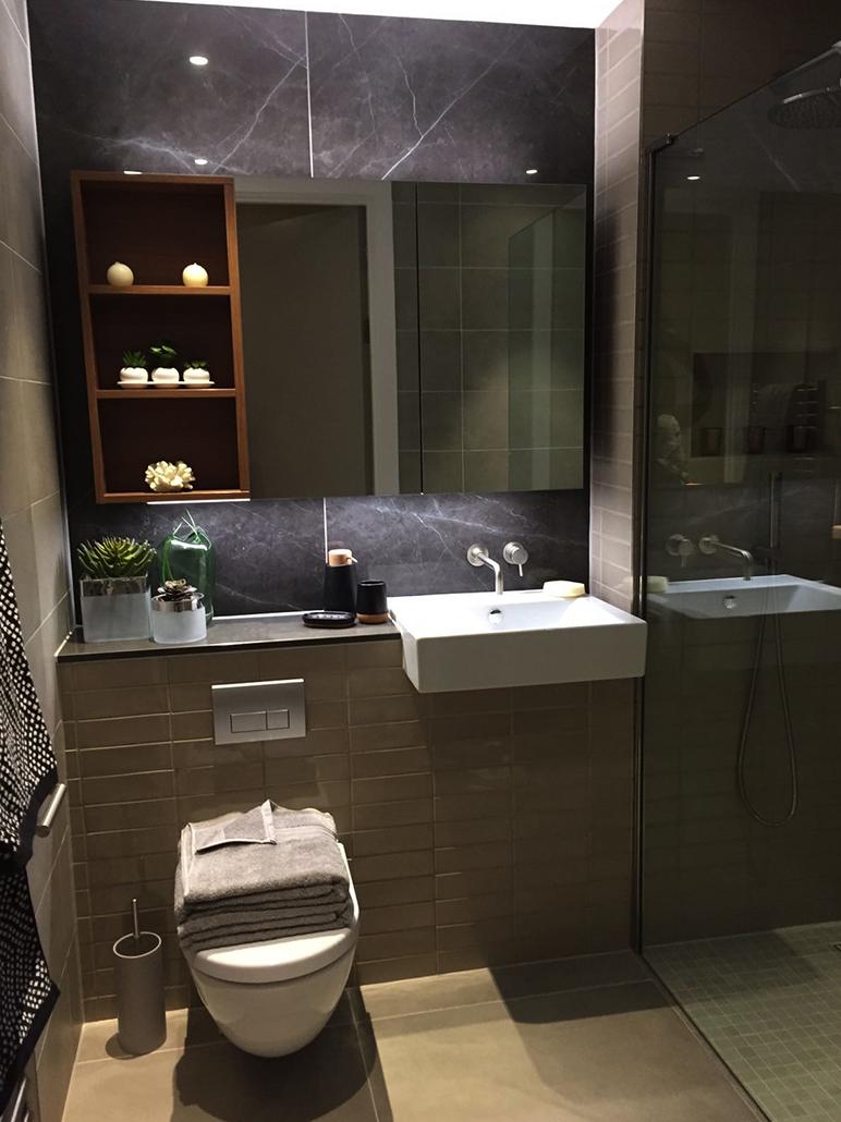 Modern Marble Bathroom Design For Show Flat